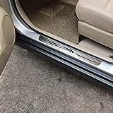 4 piezas tira protectora de umbral de puerta Auto Pedal pegatina umbral de coche placa de desgaste almohadilla protectora embellecedor estilo de coche para Kia Picanto 2013 2015 2018 2019