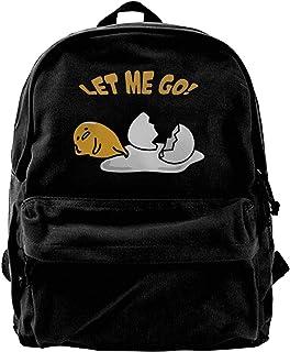 NJIASGFUI Mochila de lona Let Me Go Lazy Egg para gimnasio, senderismo, portátil, bolsa de hombro para hombres y mujeres