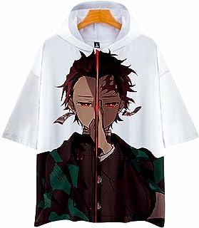 Kimetsu no Yaiba T-shirt con cappuccio Anime Tanjirou Agatsuma Zenitsu Tomioka Estate Coaplay Tops DS Shinobu Gdiyuu Demon...