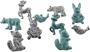 Indian-Shelf Handcrafted Assorted Pack of 15 Decorative Pulls Multicolor Knobs Iron Cabinet Handles Animal Shape Knobs Vintage Mix Combo