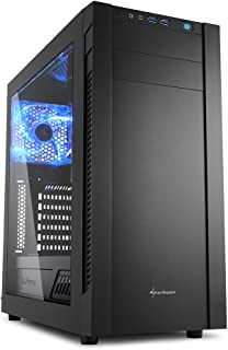 Sharkoon s25-w - Caja de Ordenador, pc Gaming, semitorre ATX, Negro.