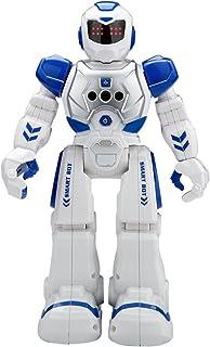 インテリジェン 人型ロボット プログラム可能 ジェスチャ制御 手振り制御 多機能ロボット 歩く ダンス ソングなど (ブルー)