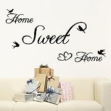 SMILEQ Home Sweet Home - Mural de vinilo extraíble para decoración de la habitación del hogar (A)