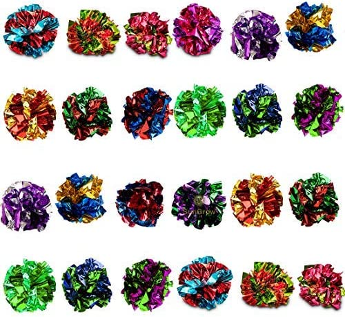 Sungrow Mylar Crinkle Balls for Cats Soft Lightweight Fun Toy for Both Kittens Grown up Cats product image