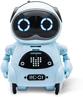 Ndream Pocket Robot for Kids, Educational Intelligent Mini Robot Toy, Voice Conversation, Speech Recognition, Dance and Change Voice and Repeat for Boys and Girls Gift (Blue)