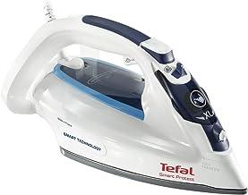 TEFAL Smart Protect Steam Iron, 270 ml, 2600 Watts, White/Blue, Durilium Airglide, FV4980M0