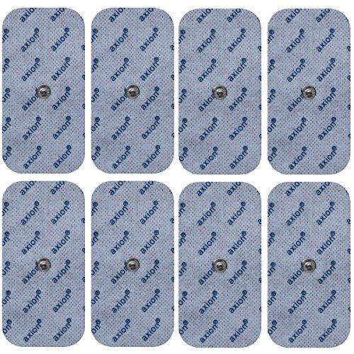 Set de 8 electrodos de 10x5 cm de axion | Compatible con VITALCONTROL y Beurer | Para su aparato electroestimulador TENS EMS | Parches adhesivos tens ems