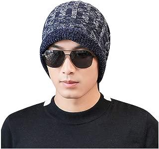 SOMESHINE Mens Winter Warm Knitting Hats Wool Baggy Slouchy Beanie Hat Skull Cap Ski Baggy Hat Stretchy & Soft Beanie Hats