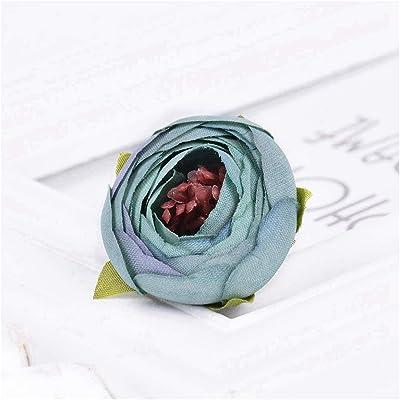 NO BRAND CGS2 Té de la Flor pequeña Rose Verdadero Toque Rose Seda de la Boda del Ramo de la decoración del hogar Garland Accesorios artesanales se Pueden Personalizar, 50Bunch Decoración del hogar