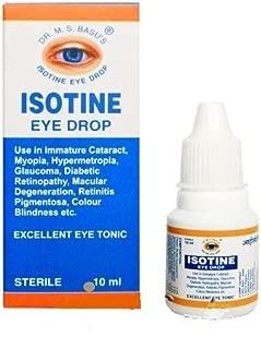 Isotine Eye Drop Pure Herbal and 100% Genuine Eye Drops_10ml_PACK OF 2