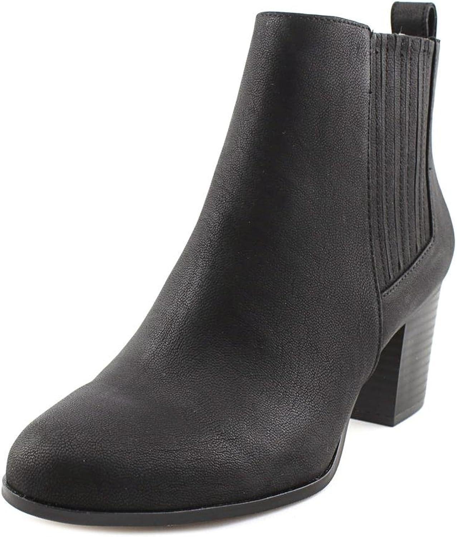INC International Concepts Womens Fainn Leather Closed Toe, Black, Size 8.5
