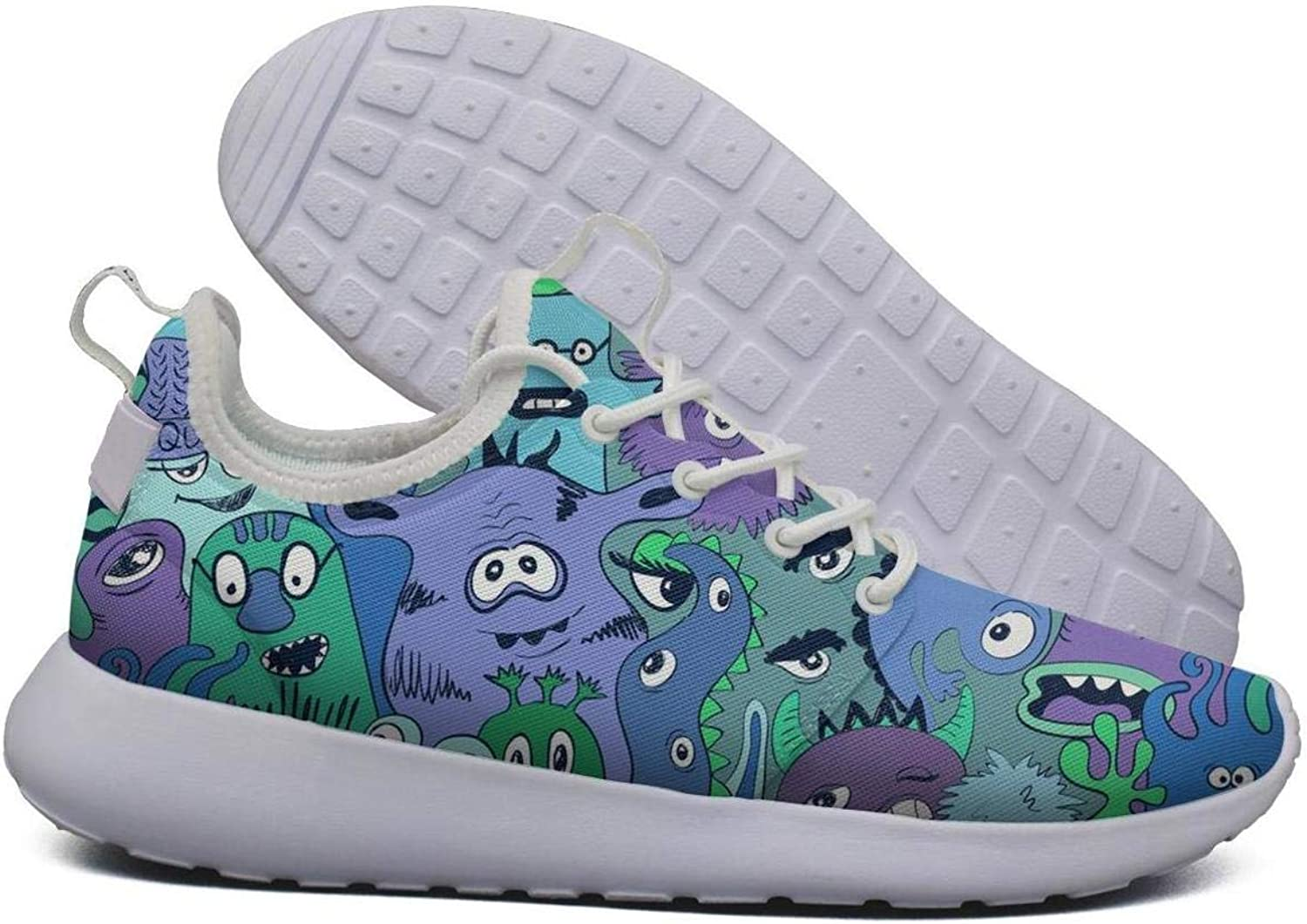 Hoohle Sports Womens Funny Zombies Design Flex Mesh Roshe 2 Lightweight Soft Cross-Trainer shoes