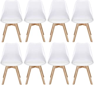 Yaheetech Dining Chairs DSW Chair Shell Lounge Plastic...