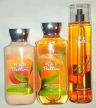 Bath & Body Works Peach Bellini Shower Gel, Body Lotion & Fine Fragrance Mist