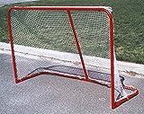 Folding Lightweight Hockey Goal in Red & White