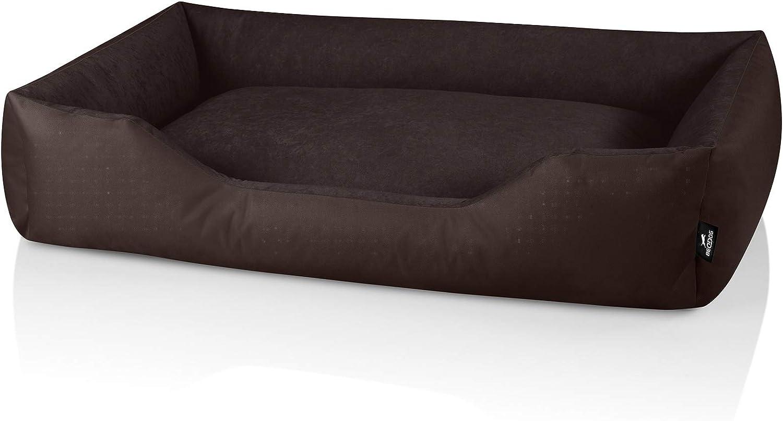 BedDog® Zara colchón para Perro S hasta XXXL, 10 Colores, Cama para Perro, sofá para Perro, Cesta para Perro, XXXL, Chocolate (marrón)