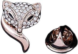 iTemer Broches de bisuteria para ropa y zapatos Pin para solapa Un hermoso recuerdo Aleaciones Silver Pequeño zorro Crysta...