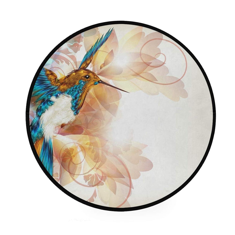 消費するシーサイド想像力ラウンドマット 鳥柄 円形マット 滑り止めのカーペットの丸い部屋 高級 丸いラグ 円形 リビング 子ども部屋 柔らかい エコ 防音 防カビ抗菌 オールシーズン使用 直径92cm