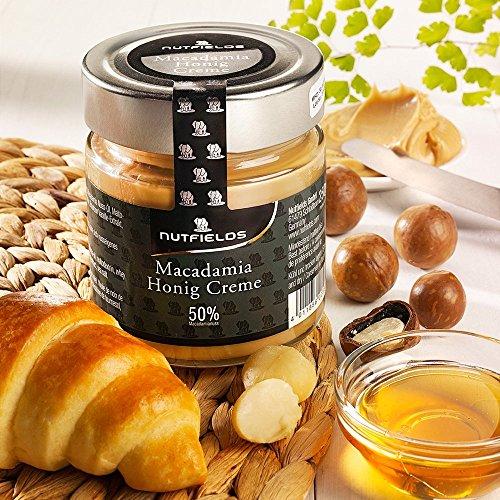 Macadamia Honig-Creme, Brotaufstrich, 250g im Glas