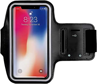 CaseHQ Armband for iPhone Xs Max iPhoneXS iPhone XR iPhone X 8Plus 7Plus 6/6S Plus Galaxy s9s8 s7Edge Sports Exercise Running Fitness Exercise Gym Pouch Reflective with Key Holder