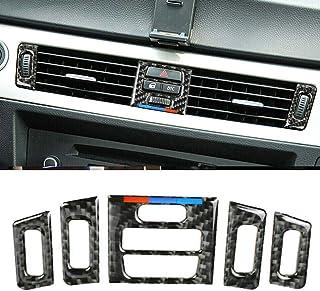 Ajboy Kfz Lüftungsauslass für Innenraum, Kohlefaser, Zubehör für BMW E90 E92 E93
