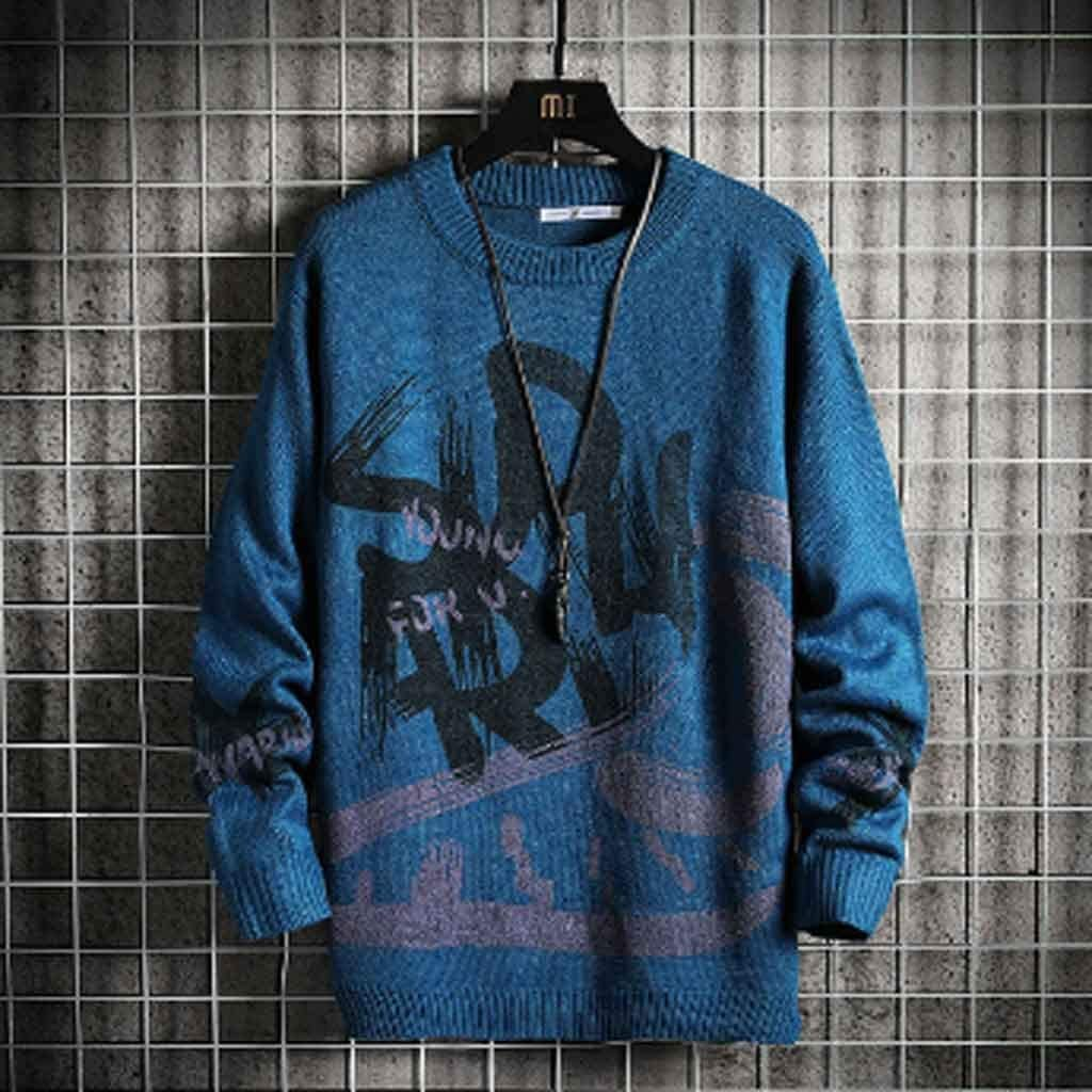ZYING Men's Sweaters Spring Autumn Winter Clothes Pull Oversize Korea Style Casual Standard Pullovers (Color : C, Size : XL Code)