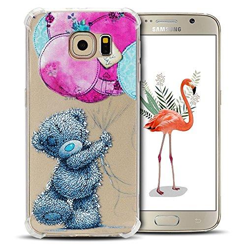 SpiritSun - Custodia per Samsung S6, in morbido silicone gel TPU, per Samsung Galaxy S6, con angoli rinforzati, flessibile, trasparente