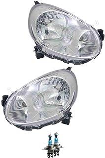 Lampen Halogen Scheinwerfer Set f/ür Micra K13 10.10 H4 ohne Motor inkl