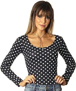 2ed7c8e500 Moda - FICALINDA - Blusas de Manga Comprida   Camisetas e Blusas na ...