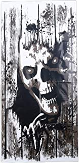 AEVIO Halloween Zombie Window Clings Giant Chost Poster Door Cover Poster Party Decorations Supplies, 47X24 Inches