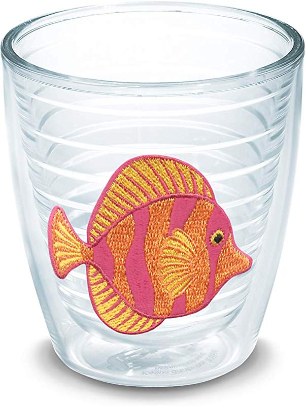 Tervis 1046391 Tropical Fish Tumbler With Emblem 12oz Clear
