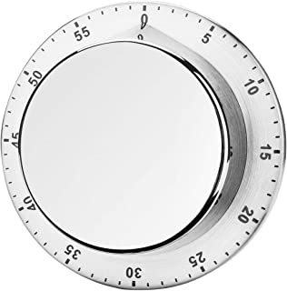 Magnetic Kitchen Timer Countdown Loud Alarm Stainless Steel Body Manual Mechanical for Cooking Baking Washing and Any Other Timing Project