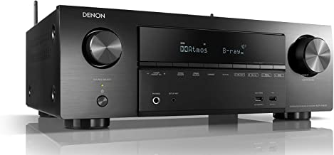 Denon AVR-X1600H - Receptor AV 7.2 Canales (WiFi, Bluetooth, 4k, HDCP2.2, eARC, AirPlay 2, HEOS, Compatible con Alexa) Color Negro