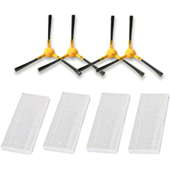 15 X Filter Side Brush Mop Cloth For Tesvor X500 Robot Vacuum Cleaner  Parts