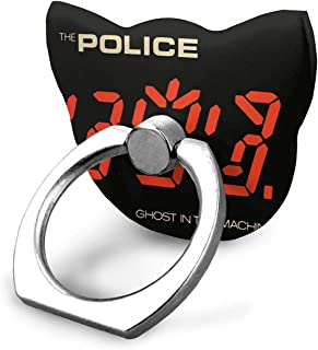 EdithL The Police Ghost in The Machine Phone Ring Stand Holder Finger Grip Stand, Car Mount 360 Degree Rotation Universal Phone Ring Holder Kickstand for iPhone/iPad/Samsung