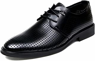 [JapHot] メンズ ビジネスシューズ 夏 メッシュ 革靴 通気性 涼しい 紳士靴 フォーマル 軽量 滑り止め カジュアル 通勤
