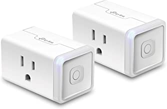 TP-Link HS105 KIT Mini WiFi Smart Plug No Hub Required, Compatible with Alexa Echo & Google Assistant, 2 Pack, White, 2 Wi-fi (Renewed)