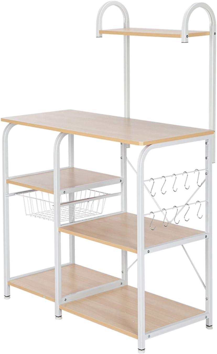 Tesmula Kitchen Utility Storage Shelf Microwa New arrival Manufacturer OFFicial shop Baker's 35.5