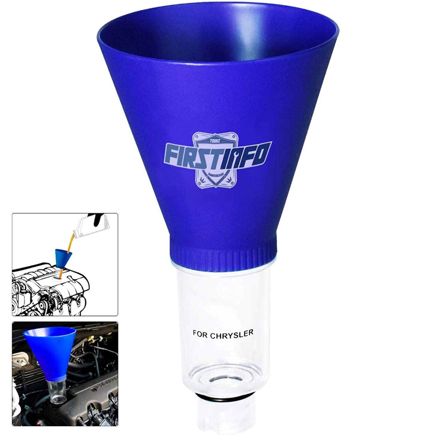 FIRSTINFO Engine Oil Funnel for Chrysler, Dodge, and Jeep Vehicles