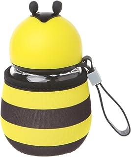 sunhoyu antigoteo para niños Botella de agua/Cantimplora, portátil abeja mariquita botellas de agua Cristal Vasos Outdoor Kids regalo 01