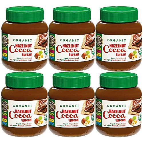 Natural Nectar Organic Hazelnut Cocoa Spread, USDA Certified Organic, 13 oz (6 Pack)