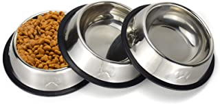 Sonyaer Stainless Steel Cat Bowls, Food and Water Cat Dishes Non Slip Stackable Pet Bowl for Cat, Kitten, Puppy, Small Dog...