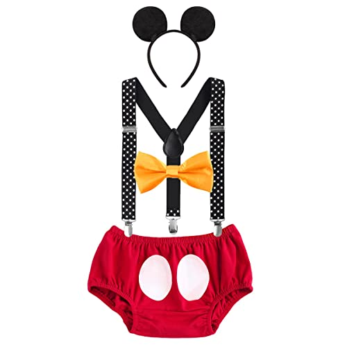 Baby Boys First Birthday 1st 2nd 3rd Costume Cake Smash Outfits Y Back Suspenders