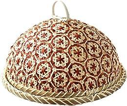 SWZJJ Handmade Bamboo Food Fruit Wicker Rattan Basket Bread with Lid Round Plate Kitchen Storage Bread Organizer