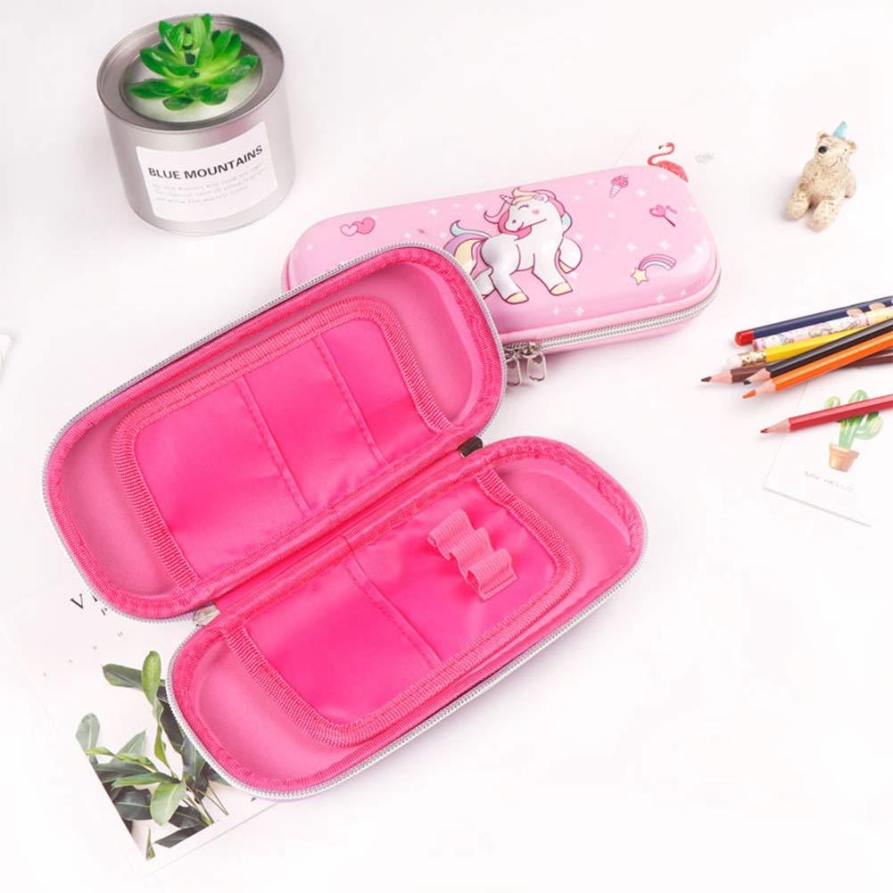 KroY PecoeD - Estuche para lápices con diseño de Unicornio en 3D, Gran Capacidad, Tapa Dura, de Goma EVA, Organizador para niñas y niños (Color al Azar): Amazon.es: Hogar