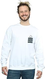 Looney Tunes Men's Tweety Pie Striped Faux Pocket Sweatshirt