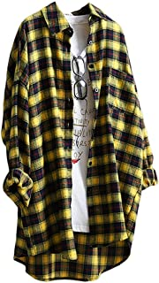 Best oversized yellow plaid shirt Reviews