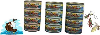 Deck Hand Premium Cat Food Pole & Line Caught Wet Cat Food with Toys. Variety 12 Pack Canned Cat Food with 3 Tantalizing Flavors. Pure Tuna, Salmon, and Shrimp with No Fillers or Artificial Additives