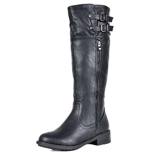 5f9de85d49d2b2 DREAM PAIRS Women s Sunrider Knee High Winter Military Combat Boots