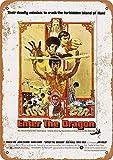 Hunnry Bruce Lee Enter The Dragon Poster Metall
